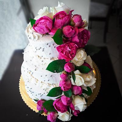Tort z kwiatami Wega